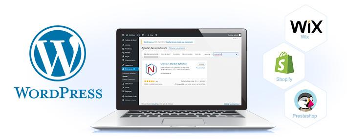 plugin de chatbot pour wordpress, wix, prestashop  et shopify
