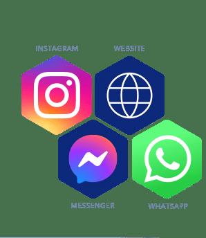 Chatbot for website, instagram, wordpress, whatsapp and Facebook Messenger